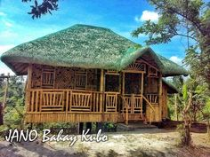 Philippines Bahay Kubo Nipa hut with room Aluminum Gazebo, Bahay Kubo, Bamboo Architecture, Bamboo House, House Rooms, Philippines, Outdoor Structures, Cabin, House Styles