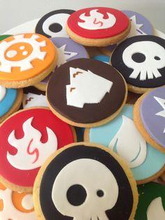 Matching Skylander cookies