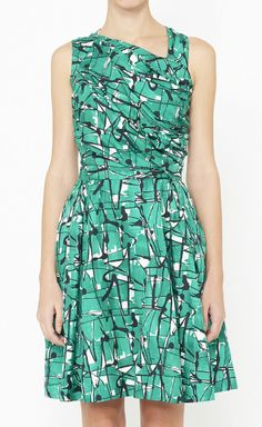 Not totally loving the neckline on this dress, but the print is fab!