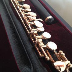 Powell Custom piccolo -- grenadilla body with 14k gold keys. #powellflutes #flute