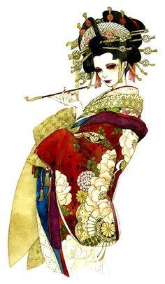 Great Art Geisha Mehr Control And Responsibility For Teens Control and Responsibility Dear Daughter, Geisha Kunst, Geisha Art, Anime Kunst, Anime Art, Geisha Drawing, Geisha Anime, Drawing Dead, Art And Illustration, Fantasy Kunst