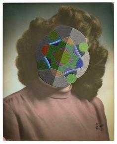 Embroidered Vintage Photographs by Julie Cockburn | Inspiration Grid | Design Inspiration #art #collage #embroidery #vintage #surreal #inspirationgrid