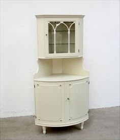 Image detail for -antique swedish gustavian painted glass front corner cabinet ...