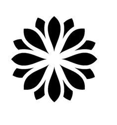 large zen flower stencil 1