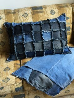 Aproveitando velhos jeans:capas para travesseiro