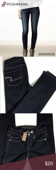 🎀AMERICAN EAGLE OUTFITTER DARK WASH SKINNY JEAN🎀 New, Beautiful Dark Blue color. Skinny legs. Features 5 pockets. American Eagle Outfitters Jeans Skinny