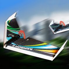 DW HOBBY Upgraded Rainbow â…¡ 1000mm Wingspan EPP Flying Wing RC Airplane KIT