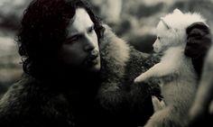 Jon Snow & a puppy. Yes.