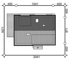 Proiect de casa cu terasa acoperita la mansarda, plan acoperis Lockers, Locker Storage, House Design, Architecture, Modern, Furniture, Home Decor, Attic Ideas, Sun