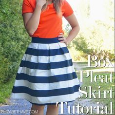 Elizabeth Ave: A-Line Skirt Series: Box Pleat Skirt Tutorial