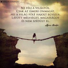 Márai Sándor idézete az önismeretről. A kép forrása: Angels' Army # Facebook