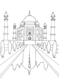 Taj Mahal Coloring Page Elegant Taj Mahal Drawing at Getdrawings Colour Architecture, Architecture Sketchbook, Pencil Art, Pencil Drawings, Art Drawings, Taj Mahal Dibujo, Taj Mahal Drawing, House Drawing, High School Art