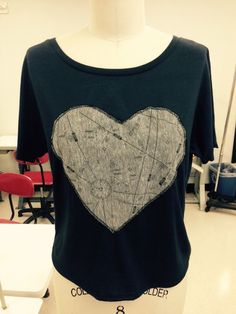 Aviatress short sleeve top with our signature heart design.