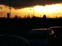 Sunset over Central London seen from Leytonstone. Celestial, London, Sunset, Outdoor, Outdoors, Sunsets, Outdoor Games, The Great Outdoors, London England