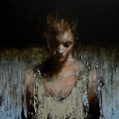 Mark Demsteader - Manchester, UK artist---'Study for Blue Wave'---Oil on canvas