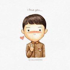 Cute Quotes For Your Crush Cartoon - Cute Korean Drama Funny, Korean Drama Movies, Korean Dramas, Hyun Bin, Goblin Korean Drama, Gu Family Books, Fanart, Lee Minh Ho, Drama Film