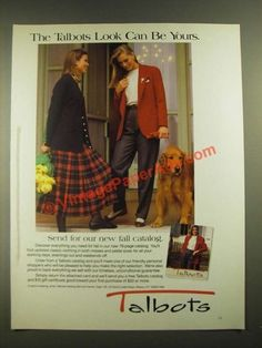 1988 Talbots Fashion Ad - The Talbots Look Can Be Yours