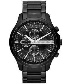Armani Exchange Black Stainless Steel Mens Watch