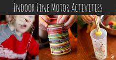 Indoor fine motor activities for kids
