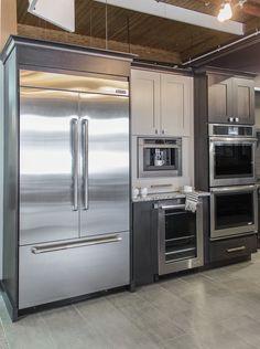 Photo courtesy of KSI Designer, Brianna Hogberg and Bill & Rod's Appliance, Inc. Kitchens, Kitchen Appliances, French Door Refrigerator, Kitchen And Bath, Baths, Bathroom, Home, Design, Decor