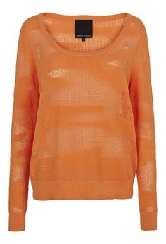Add a splash of colour to your Spring wardrobe with this orange jumper from Second Female