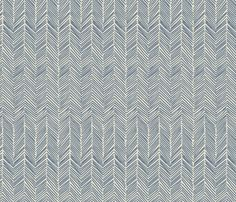 freeform  arrows in navy - domesticate - Spoonflower