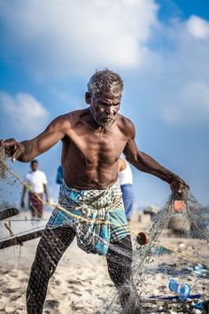 Fisherman in Chennai, India-- It would be cool to feature all kinds of saltwater fishing in our project!
