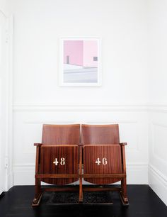 Stadium Chairs For Home Use - Baseball, Sport Seating Trend Hallway Decorating, Entryway Decor, Entryway Ideas, Stadium Chairs, Stadium Seats, San Francisco Houses, Entry Way Design, Farmhouse Side Table, Chandelier