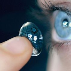 A computer screen on your contact lens - now that's looking into the future! #contact #computer #ar #emerging #technology #future
