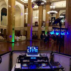 DJ Setup @ 90 State (Albany, NY) for Rushad & Lauren Wedding November 2014.