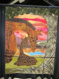giraffe quilts | Giraffe quilt at Quilt Expo. Portland, Oregon
