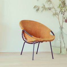 Vintage Lounge Chair 60s, suede $278.09