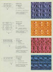 Horgolásról csak magyarul.: MINTÁK RAJZZAL LEÍRÁSSAL Braid Patterns, Easy Knitting Patterns, Photo Craft, Diy Photo, Cable Knitting, Crafts Beautiful, Jelsa, Garter Stitch, Diy Crochet
