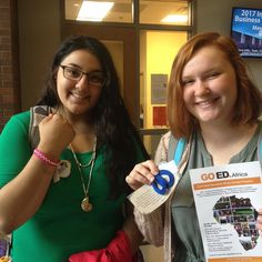 These two want to #studyabroad Thanks @azizilife for the beautiful jewelry. #gostudyabroad