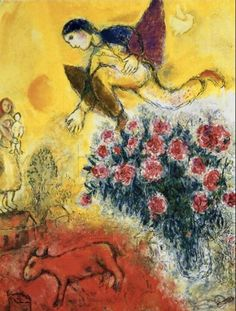 Chagall. I use to stare forever at this one in a book at the Yarborough library…