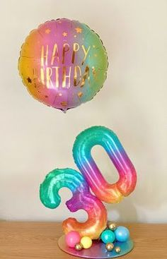 30th Birthday Design by Sue Bowler Balloon Tower, Balloon Stands, Balloon Display, Balloon Crafts, Balloon Gift, Balloon Garland, 30th Birthday Balloons, Birthday Diy, Birthday Design