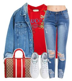 """Got you"" by princess-alexis18 ❤ liked on Polyvore featuring Gucci and adidas"