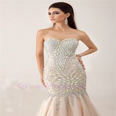 Custom Long Dress for Stunning Women Evening Dresses 2015 Party Gowns plus size