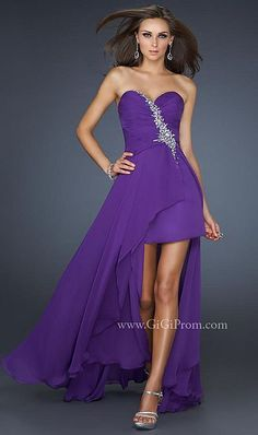 Alternate view of the Prom Dresses 2012 GiGi High Low Prom Dress 17375 by La Femme image