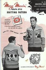 Vintage, yes. A good idea, no. Not even the pipe can make this a good sweater. Vintage Knitting, Hand Knitting, Knitting Patterns, Sweater Patterns, Cool Sweaters, Vintage Sweaters, Crochet Quilt, Knit Crochet, Cowichan Sweater