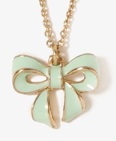 Pretty bow mint green necklace!