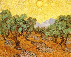 Gogh, Vincent van (Dutch, 1853-1890) - Olive Trees with Yellow Sky and Sun - 1889