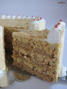 Grčka torta - Babuci Jednostavne Torte, Brze Torte, Torte Recepti, Kolaci I Torte, Baking Recipes, Cake Recipes, Dessert Recipes, Croatian Recipes, Homemade Cakes