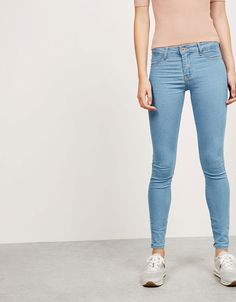 Jeans BSK super skinny regular waist - Back to School - Bershka Colombia