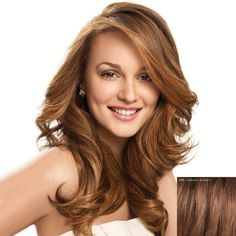 Sophisticated Long Lace Front Noble Fluffy Wavy Side Bang Real Natural Hair Wig For Women Human Hair Wigs | RoseGal.com