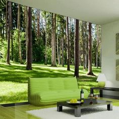 Ideas Wall Paper Bedroom Green Ceilings For 2019 Bedroom Wallpaper Murals, 3d Wallpaper, Ceiling Murals, Wall Murals, Forest Mural, Luxury Flooring, Kitchen Wall Colors, Forest Wallpaper, Dream Wall
