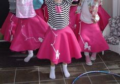 No sew poodle skirt favors for a sock hop party, also good for 50th day of school 50s celebration!