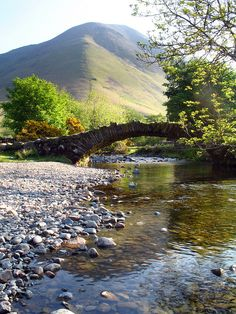 Packhorse Bridge at Wasdale Head & Kirk Fell, Lake District, Cumbria, England