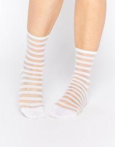 Monki | Monki Socks In Stripe at ASOS
