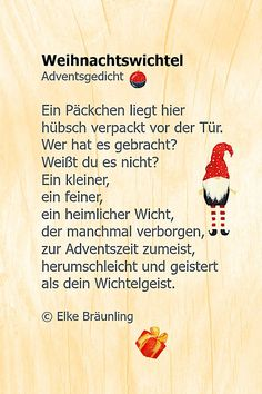 - Page 10 of 234 - Children's stories and poems - Weihnachtsgedichte - Noel Christmas World, Christmas Gnome, Christmas Gifts, Xmas, Christmas Wishes, Merry Christmas, Diy Gifts Last Minute, Winter Girl, Diy Gifts For Him